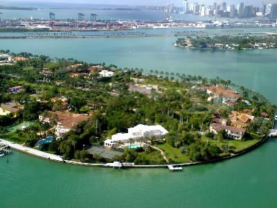 Star Island in Miami, das Zuhause der Stars.